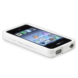 BasAcc White Snap-on Rubber Coated Case for Apple iPhone 4/ 4S - Thumbnail 2