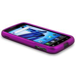 Purple Case/ Screen Protector/ HDMI Cable for Motorola MB865 Atrix 2