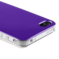 BasAcc Dark Purple with Clear Side Snap-on Case for Apple iPhone 4/ 4S - Thumbnail 2