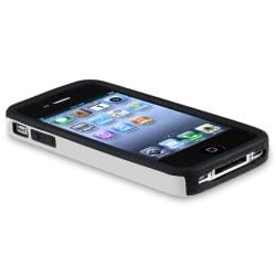 BasAcc Silver Aluminum/ Black Skin Snap-on Case for Apple iPhone 4/ 4S - Thumbnail 2