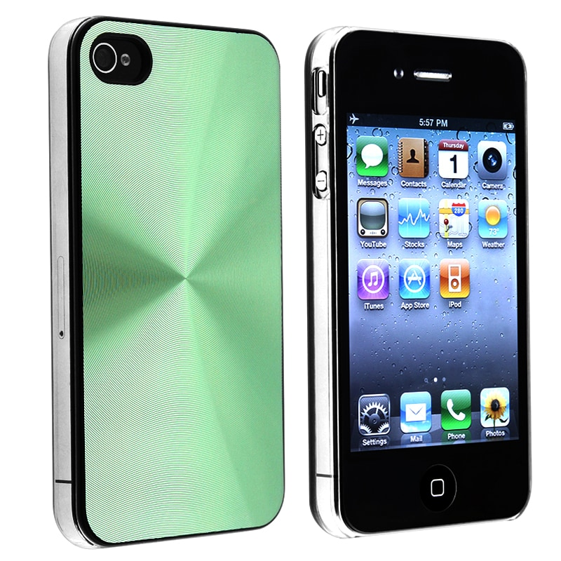 BasAcc Green Aluminum Snap-on Case for Apple iPhone 4/ 4S