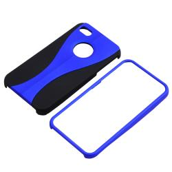 BasAcc Blue/ Black Cup Shape Snap-on Case for Apple iPhone 4/ 4S - Thumbnail 1