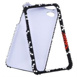 MYBAT Curve Heart Diamond Snap-on Case for Apple iPhone 4/ 4S
