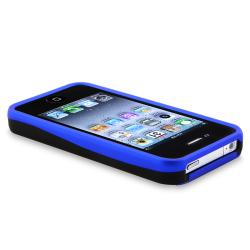 BasAcc Blue/ Black Cup Shape Snap-on Case for Apple iPhone 4/ 4S - Thumbnail 2