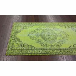 Thumbnail 2, Overdyed Green Rug (5' x 8'). Changes active main hero.