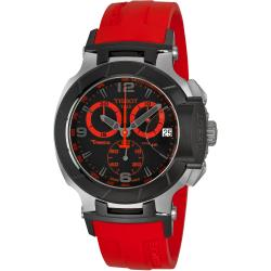 Tissot Men's T0484172705702 'T Race' Black/ Red Dial Chronograph Watch