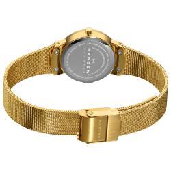Skagen Women's Stainless Steel Gold Mesh Band Watch - Thumbnail 1