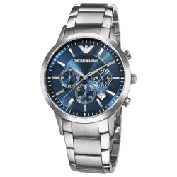 Emporio Armani Men's 'Classic' Blue Dial Chronograph Watch