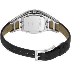 Ebel Women's 'Moonchic' Diamond Pave Dial Black Satin Strap Watch - Thumbnail 1