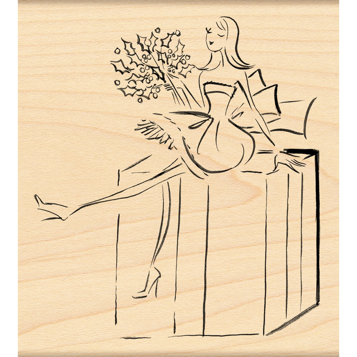Penny Black Fashionably Wrapped Rubber Stamp - Thumbnail 0