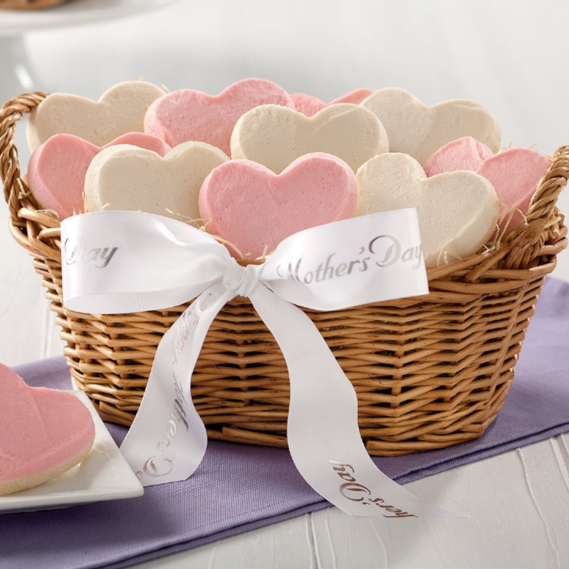 Mrs. Fields 'We Love You Mom' Heart-shaped Cookie Basket