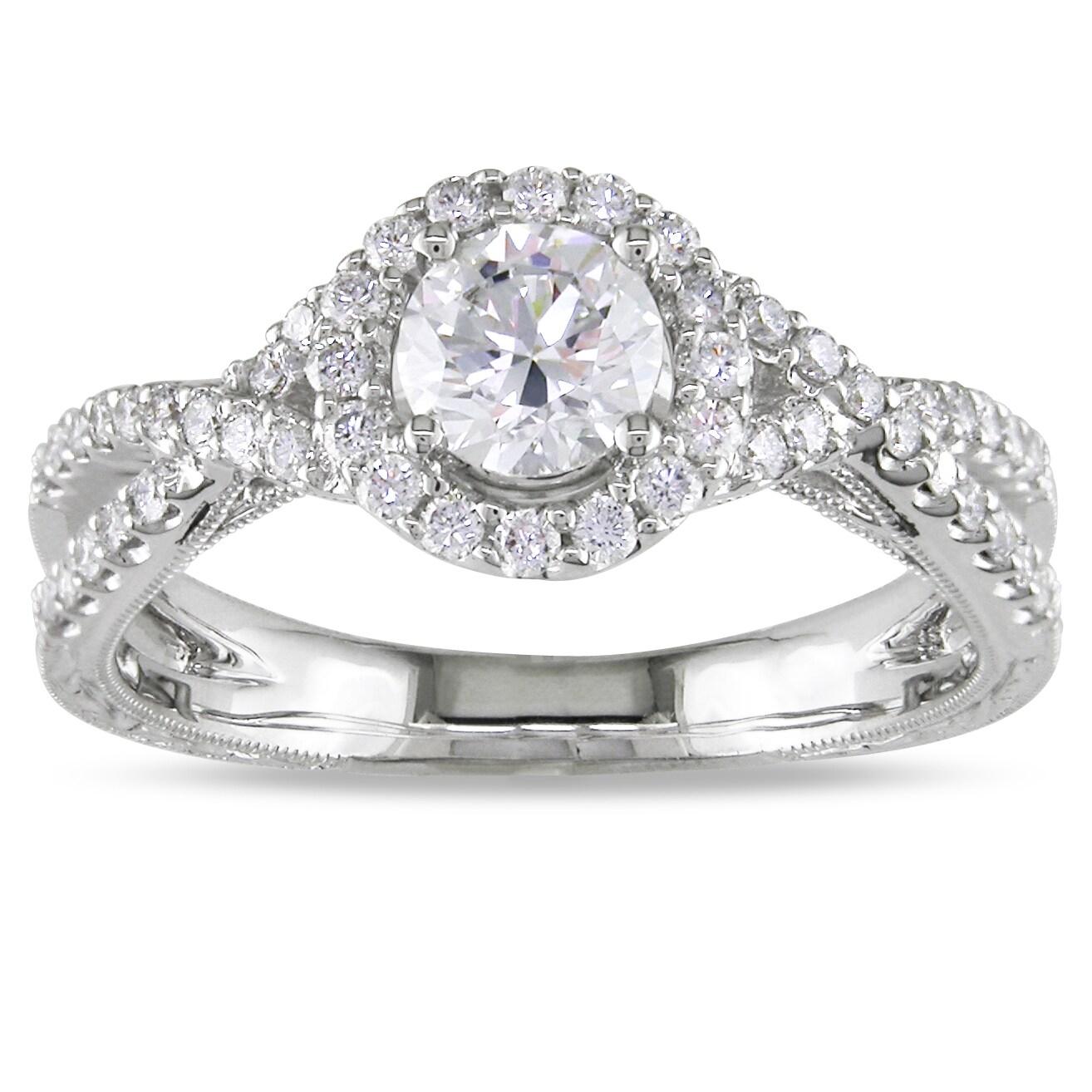 Miadora 18k White Gold 4/5ct TDW Diamond  Ring (H-I, SI2)