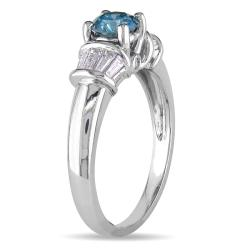 Miadora 14k White Gold 1ct TDW Diamond Ring - Thumbnail 1