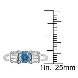 Miadora 14k White Gold 1ct TDW Diamond Ring - Thumbnail 2