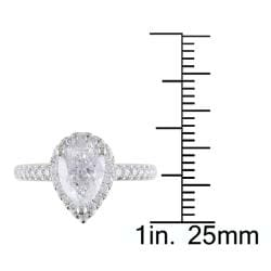 Miadora 14k White Gold 1 3/4ct TDW Certified Diamond Ring (F, I1)