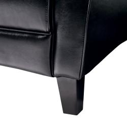 Maurice Espresso Leather Club Chair by Christopher Knight Home