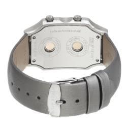 Philip Stein Women's 2-NFMOP-IPL 'Signature' Platinum Silk Strap Dual Time Watch - Thumbnail 1