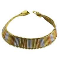 Fremada 14k Tri-color Gold 7-inch Athina Bracelet