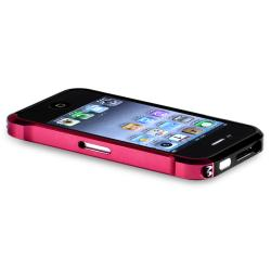 Red/ Black Metal Bumper for Apple iPhone 4/ 4S - Thumbnail 2