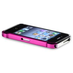 Pink/ Silver Metal Bumper for Apple iPhone 4/ 4S - Thumbnail 2