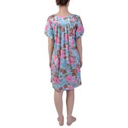 Journee Collection Women's Plus Floral Print Knee Length House Dress