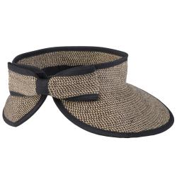 Hailey Jeans Co. Women's Bow Accent Tweed Roll-up Visor Hat - Thumbnail 1