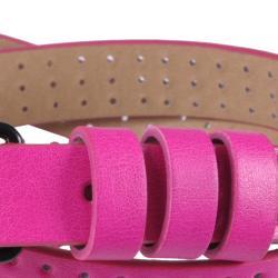 Journee Collection Women's Neon Pinhole Skinny Belt