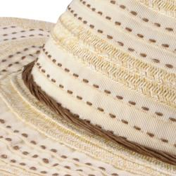 Hailey Jeans Co. Women's Stitching Detail Wide Brim Sunhat