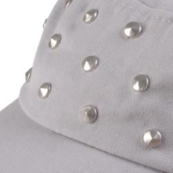 Journee Collection Women's Studded Adjustable Military Cap - Thumbnail 2