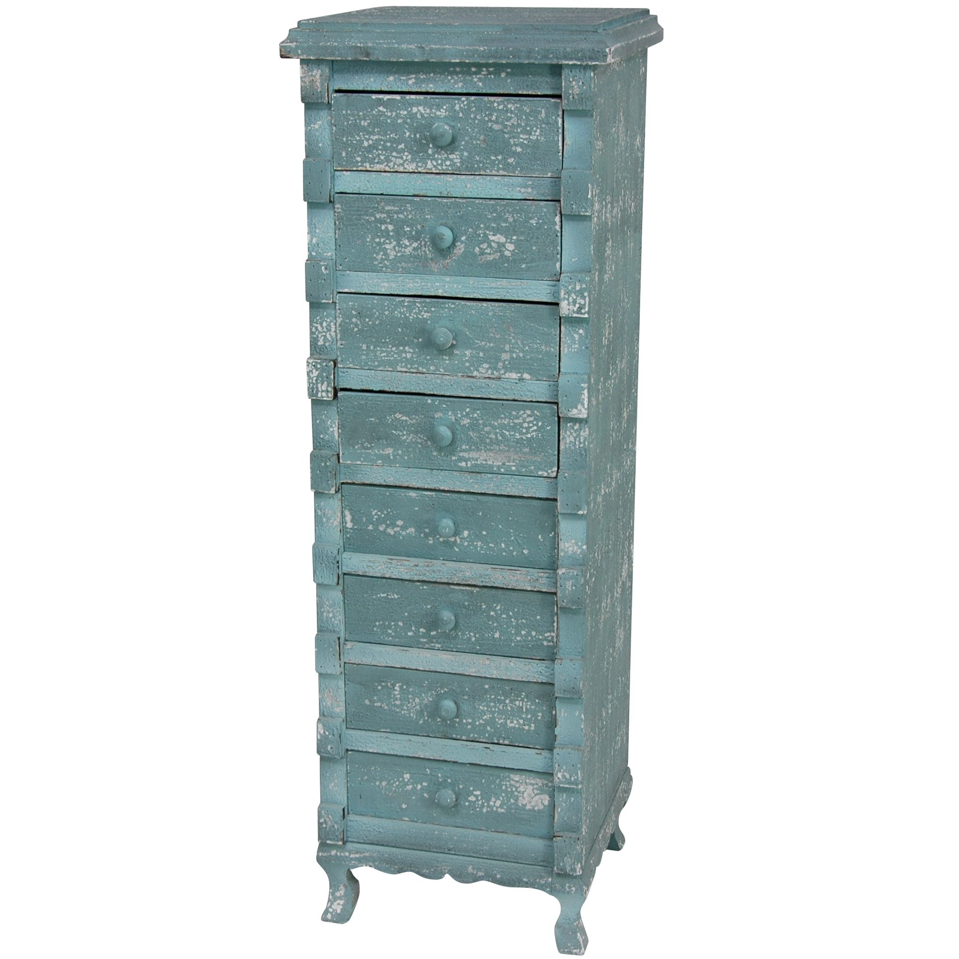 Distressed Chest of Eight Drawers (China)