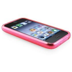 BasAcc Clear Hot Pink Circle TPU Rubber Case for Apple iPhone 3G/ 3GS - Thumbnail 2