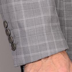 Men's Gray Plaid Suit - Thumbnail 1