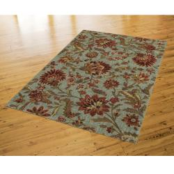 New Wave Silvery Light Blue Rug (8' x 10') - Thumbnail 2