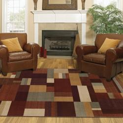New Wave Earth Hue Multi Rug (8' x 10') - Thumbnail 1