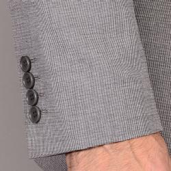 Men's Light Gray Wool/ Silk Suit - Thumbnail 1