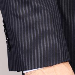 Men's Navy Stripe Suit - Blue - Thumbnail 1
