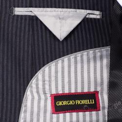 Men's Navy Stripe Suit - Thumbnail 2