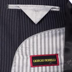 Men's Navy Stripe Suit - Blue - Thumbnail 2