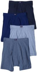 Hanes Men's Assorted Blue Cotton Boxer Briefs (Pack of 4) - Thumbnail 1