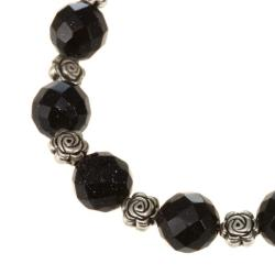 Faceted Black Glass Bracelet (Thailand)