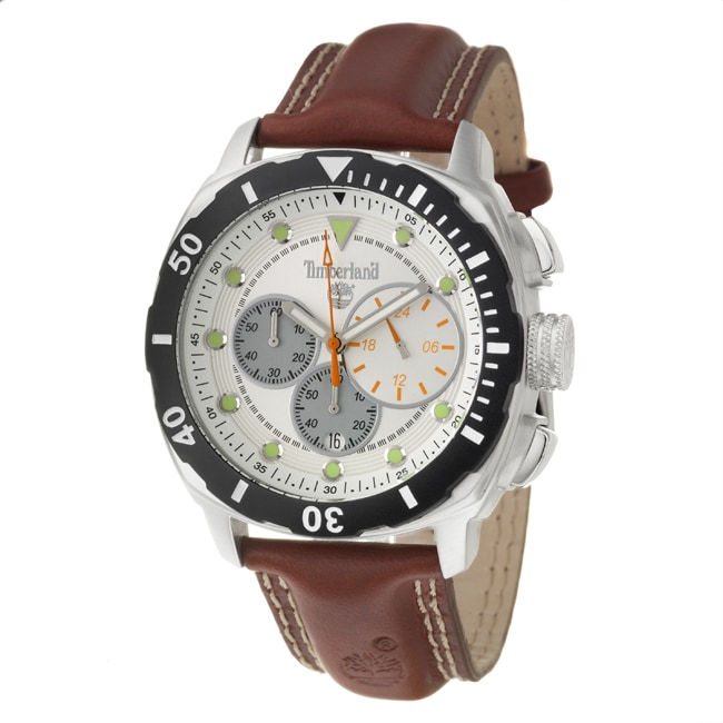 Timberland Men's 'Ocean Adventure' Stainless Steel and Leather Quartz Watch