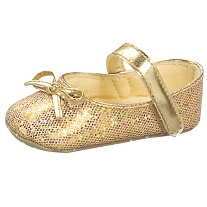 Baby Girl Gold Glitter Shoes Shipping Orders
