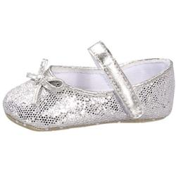 Baby Girl Silver Glitter Fashion Crib Shoes - Free Shipping On ...