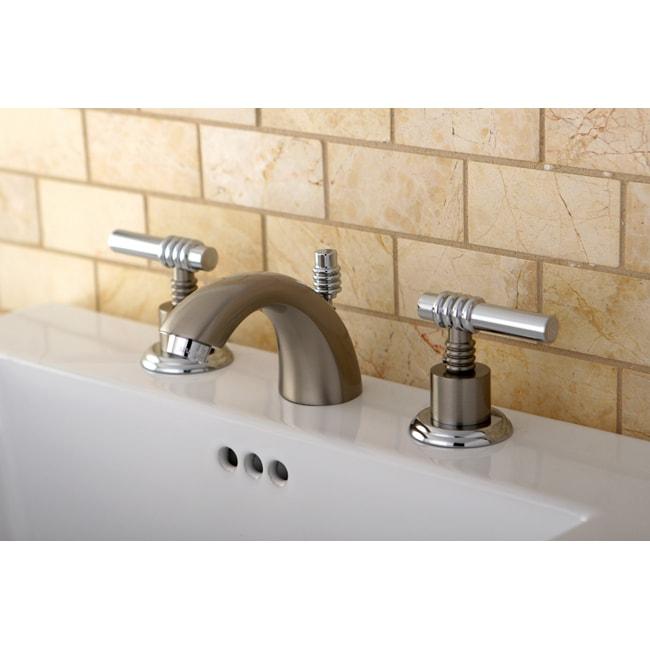 Mini-widespread Chrome/ Satin Nickel Bathroom Faucet