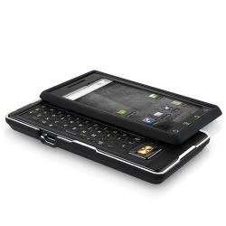 BasAcc Black Snap-on Rubber Coated Case for Motorola A855 Droid - Thumbnail 2