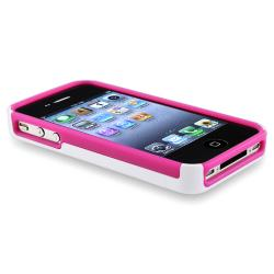 BasAcc Hot Pink TPU/ White Hybrid Diamond Case for Apple iPhone 4/ 4S - Thumbnail 2