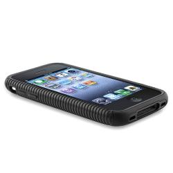 BasAcc Black TPU/ Black Plastic Hybrid Case for Apple iPhone 3G/ 3GS - Thumbnail 2