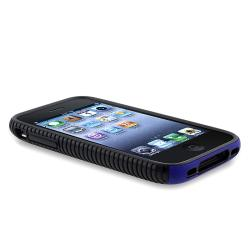 BasAcc Black TPU/ Blue Plastic Hybrid Case for Apple iPhone 3G/ 3GS - Thumbnail 2
