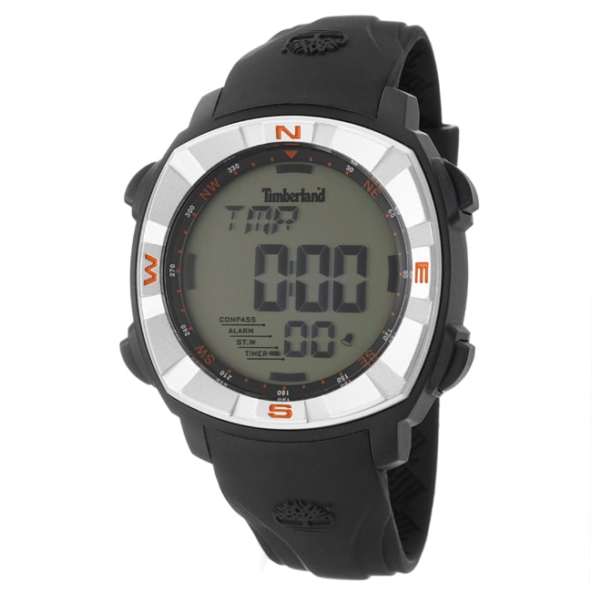 Timberland Men's 'TMA Digital' Stainless Steel Resin Silicon Quartz Watch