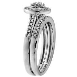 Sterling Silver 1/6ct TDW Diamond Bridal Ring Set (H-I, I2-I3)